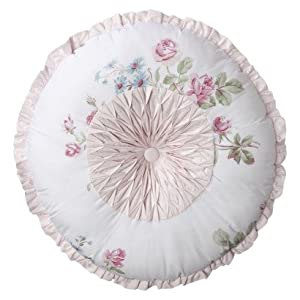 Simply Shabby Chic Pillows : Amazon.com - Simply Shabby Chic Essex Pintuck Round Pillow - White/Pink - Throw Pillows