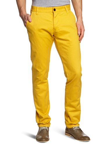 JACK & JONES Herren Chino Hose Bolton Edward York Yellow Akm Noos, Gr. W33/L30, Gelb (WASHED 001)