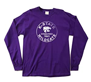 NCAA Kansas State Wildcats 100-Percent Pre-Shrunk Vintage Circle Long Sleeve Tee,... by SDI