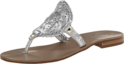 Jack Rogers Women's Georgica Silver Sandal 5 M