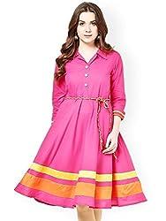 Little Lady Women's Kurti (pink veration__Freesize)