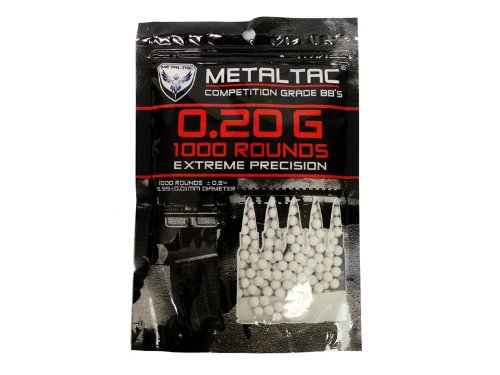 MetalTac® Airsoft BBs 0.20g 1,000 Round 6mm BBs Airsoft Pellets for airsoft bb guns (Grenade Launcher Bb Gun compare prices)
