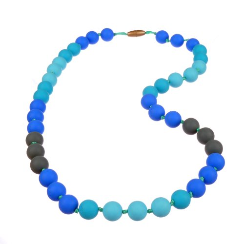 Jelly Strands Lizzie Baby Teething Necklace Turquoise