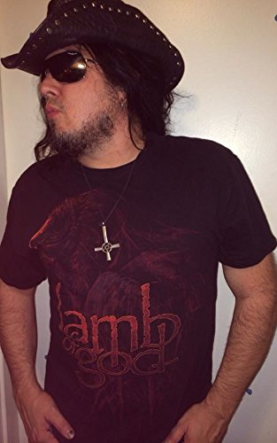 Lamb Of God - Red Eagle - Black Mens T-Shirt - Hanes Heavyweight - Large (Metallica Devil Shirt compare prices)