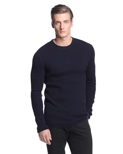 Vince Men's Thermal Long Sleeve Crew Neck Sweater