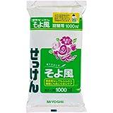 ミヨシ石鹸 液体そよ風 詰替用 1000ml×3パック