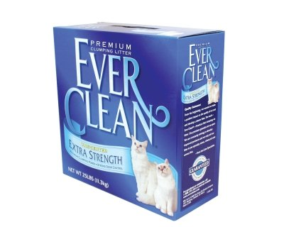 Ever Clean Extra Strength Cat Litter, Unscented, 25-Pound Box