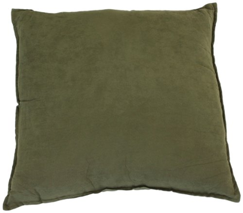 Hudson Street Faux Suede 2-Pack Decorative Pillow, 22 By 22-Inch, Olive front-777448