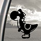 SUPER MARIO Black Decal NES YOSHI DINOSAUR NINTENDO Sticker