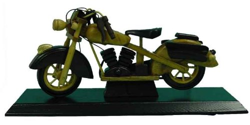 Barjan 1256889 10 in. Carved Wood Motorcycle