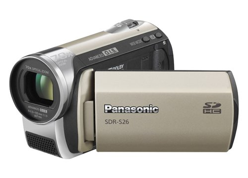 Panasonic SDR-S26 Flash Memory Camcorder With SD Card Slot - Champagne Gold