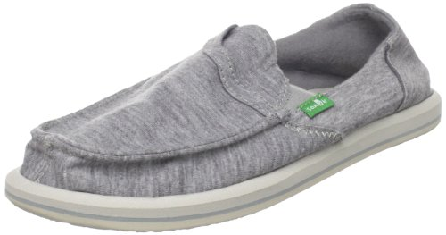 Sanuk Sidewalk Surfer's Women's Pick Pocket Fleece Slip-On Loafer,Light Grey,9 M US
