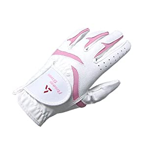 Paragon Golf Girls Rising Star Left Hand Golf Glove, White/Pink - Small