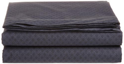Calvin Klein Home Diamond Stipple Queen Flat Sheet, Nightingale front-9459