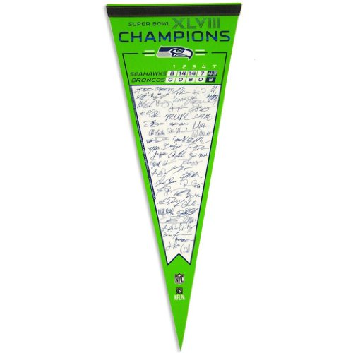 "Seattle Seahawks Official Super Bowl 48 Champion 29"" Premium Pennant by Wincraft at Amazon.com"