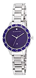 Giordano Analog Purple Dial Womens Watch - 2689-22