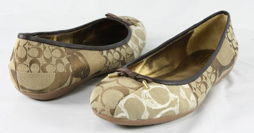 Cheap Coach Thora Patchwork Flats in Khaki Multi Size 8.5 (R3185-210)