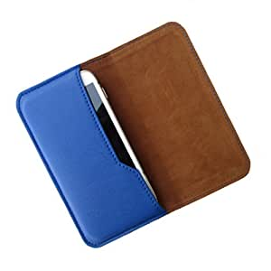 i-KitPit : PU Leather Flip Pouch Case Cover For HTC Desire 610 (BLUE)
