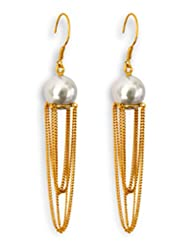 Aastha Jain Pearl Sterling Silver(18k Gold Plated)Earring For Women - B00KGZS9I4