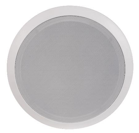 8Inch Two-Way Ceiling Speaker Pair - 40W Rms Polypropylene Cone Woofer Rubber Surround
