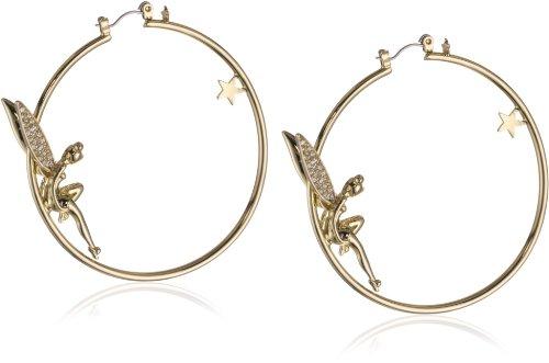 Disney Couture-Orecchini a cerchio in oro a forma di stella, con Campanellino