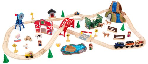 KidKraft Farm Train Set (Wooden Train Set Table compare prices)