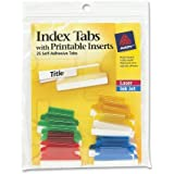 Avery Index Tabs with Printable Inserts, 1 Inch, 25 Tabs (16219)