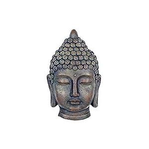 Wall Mountable Buddha Head Resin Garden Ornament from Gardens2you