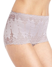 Light Tummy Control Baroque Bandeau Shorts