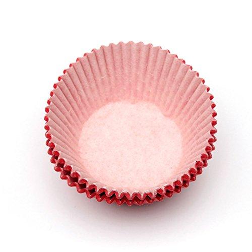 Sonline 100 pcs Rouge Papier Gobelet de Gateau Petit Gateau Etuis Doublures Muffin Cuisson Patissier Soiree de Mariage