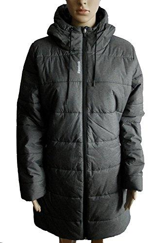 Reebok OW lunghezza giacca invernale da uomo taglia Parka da donna nuovo colore grigio taglia L