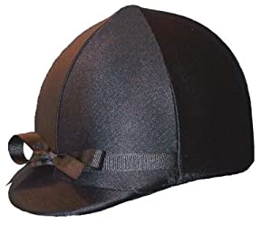 Equestrian Riding Helmet Cover - Black