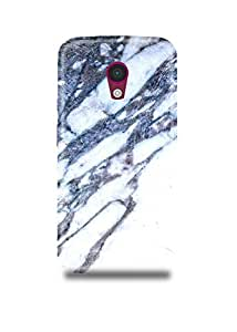 White & Grey Marble Moto G2 Case
