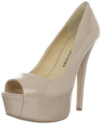 Chinese Laundry Women's TRIP MJR PAT Platform Pump,Nude Patent Solid,7.5 M US