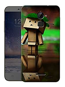 """Box Man Cute Printed Designer Mobile Back Cover For """"Coolpad Note 3 Lite"""" By Humor Gang (3D, Matte Finish, Premium Quality, Protective Snap On Slim Hard Phone Case, Multi Color)"""