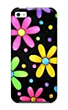 New Style Case Cover WFsNrLD5605nyeWf Funky Simple Flowers Compatible With Iphone 5c Protection Case