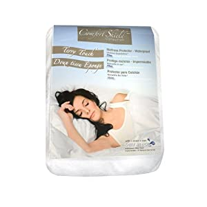 Comfort Shield Anti Allergen  Bed Bug Proof Soft Terry Waterproof Mattress Protector, White, Full