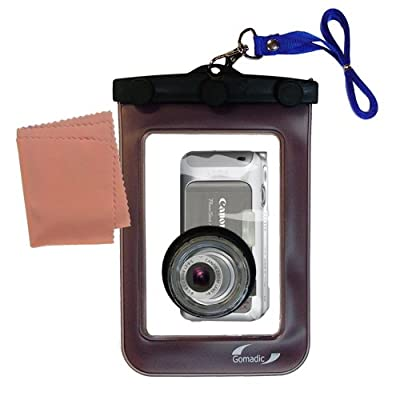 Gomadic Clean-n-Dry Waterproof Camera Case for the Canon PowerShot A460 * unique floating design