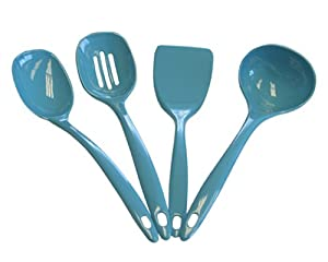 Calypso Basics Utensil Set of 4, Turquoise