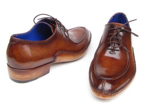 42b86e817 Paul Parkman Men s Side Handsewn Split Toe Brown Oxford Shoe 43 EU Brown
