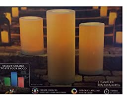 Premium Outdoor LED Candles Remote Controlled 3Pk