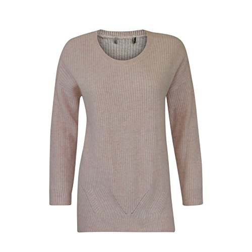 major-highstreet-store-lambswool-soft-pink-knitted-long-line-jumper-size-14