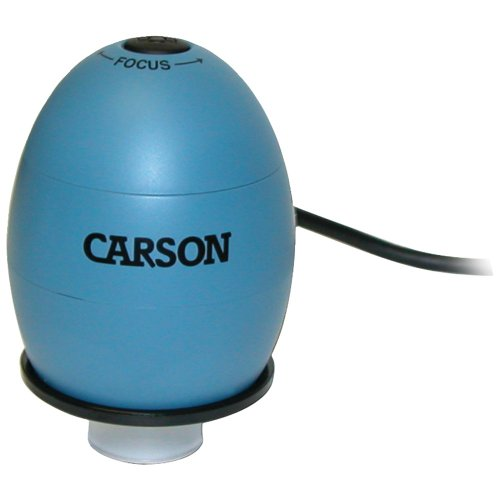 Carson Mm-480B Zorb(Tm) Usb Digital Microscope With 53X Optical Zoom (Surf Blue)