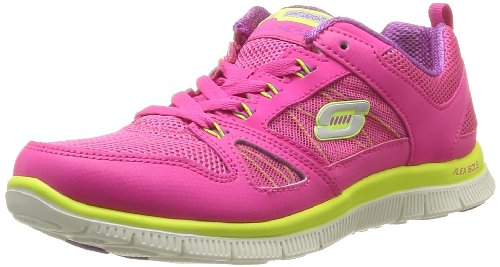 Skechers USA Womens Flex Appeal - Spring Fever Low-Top Trainers 11727 Pink 7 UK, 40 EU