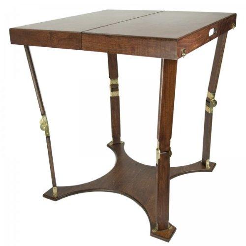 Folding Cafe Table - Mahogany