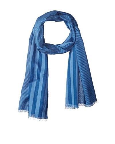 Fendi Women's Striped Scarf, Blue