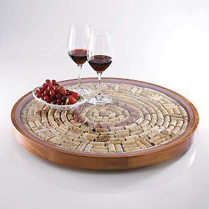 Wine Enthusiast Wine Cork Lazy Susan Kit front-534300