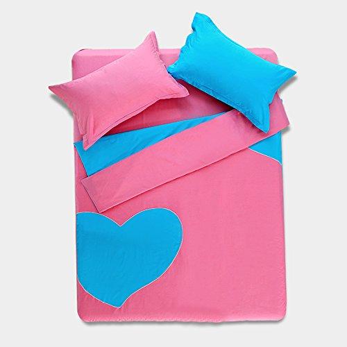 Love Heart Light Pink Bedding Girls Bedding Teen Bedding Modern Bedding Duvet Cover Set Gift Idea, Queen Size