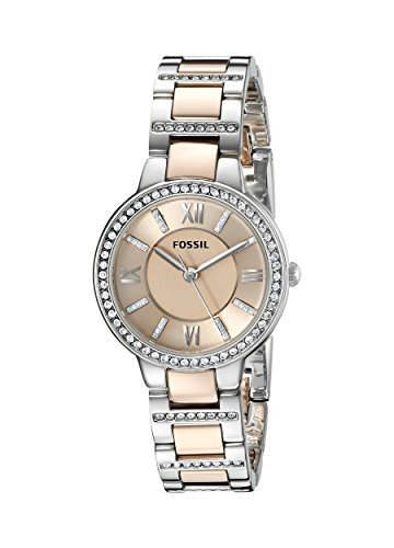 Fossil Fall 2014 ES3405 30mm Silver Steel Bracelet & Case Mineral Women's Watch