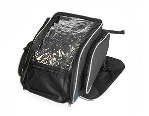 Sacoche de réservoir pour moto - magnétique - noir - 21 litres